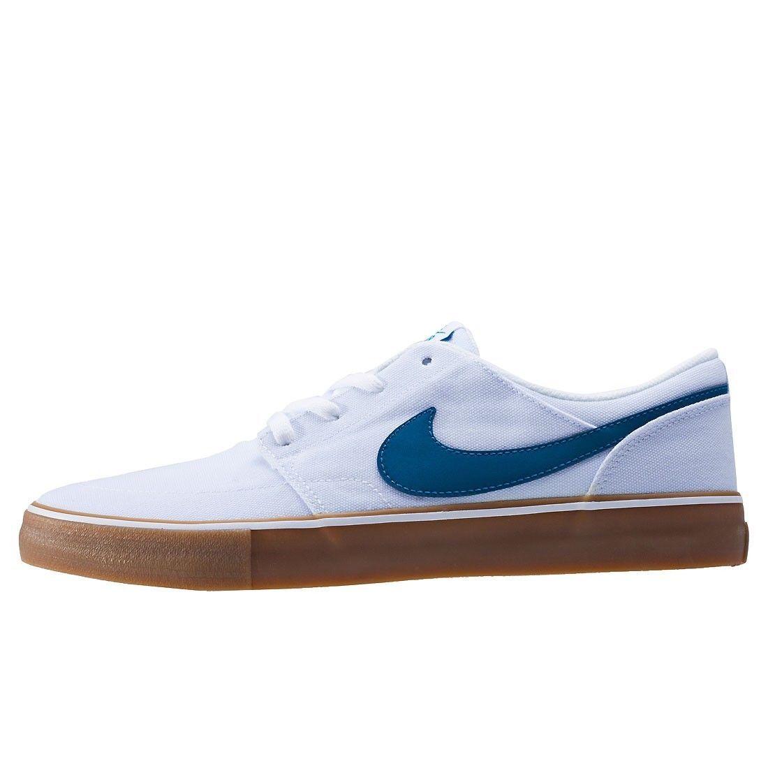 Nike SB Portmore II Solar CNVS Canvas White/Blue Mens Skate Shoes 880268-149 image 3