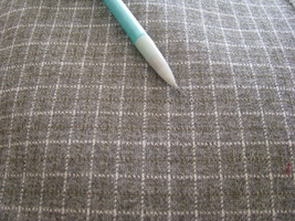 Light gray Square or Plaid Suit Fabric  2 yards plus 30 inches  60 inche... - $14.95