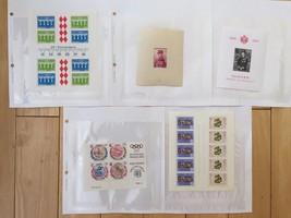 F98 Monaco Souvenir Stamps Rainier Louis Munich Olympics 1972 Europa 197... - $11.63