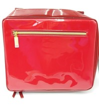 Estee Lauder Case Bag Red Fashion Makeup Cosmetic Travel Carrying Train ... - $22.25