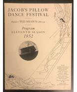 jacob's pillow dance festival, 1952 - $11.88