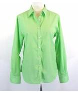 FOXCROFT Size 8 NEW Wrinkle Free Striped Cotton Shirt Button Down Top - $22.99