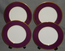 Set (4) NARUMI Bone China WINEBERRY PATTERN Salad Plates MADE IN JAPAN - $39.59