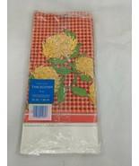 "American Greetings Table Cover Chrysanthemums 1976 54"" x 96"" - $8.96"