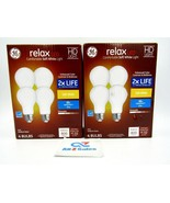 2 x 4-Pack GE RELAX HD Soft White 60W  A19 Dimmable LED Light Bulbs Stan... - $12.82