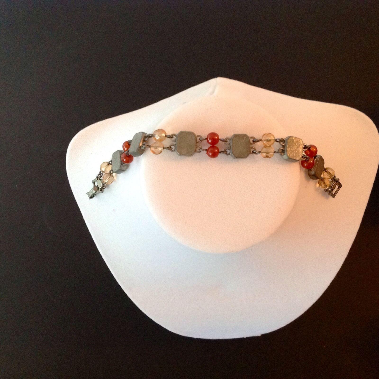 Avon Necklace Bracelet Earrings 3 Piece Set Signed Colored Stones 2002 Vintage image 7