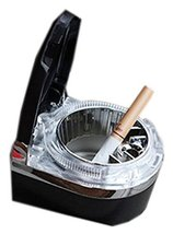 PANDA SUPERSTORE Portable Stainless Auto Car Cigarette Ashtray LED Cigarette Ash