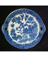 Blue Willow Porcelain Miniature Cake Plate Child's Collectible Oriental New - $14.52