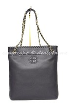 NWT Tory Burch Marion Black Leather Swingpack/Messenger/Shoulder/Crossbo... - $339.00
