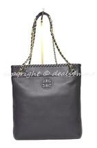 NWT Tory Burch Marion Black Leather Swingpack/Messenger/Shoulder/Crossbody Bag - $339.00