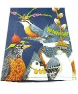 New Birds Kitchen Bar Towel PARTY FRIENDS Vicki Sawyer 100% Cotton Blue ... - $12.50