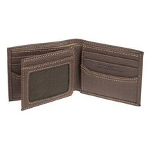 Levi's Men's Rfid Extra Capacity Zipper Coin Credit Card ID Bifold Wallet image 4