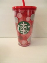 Starbucks 16oz Twist Lid Tall Tumbler Travel Mug Cup Pink Red Silver Mint - $15.00