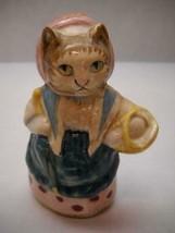 BEATRIX Potter FIGURINES F Warne BESWICK England COUSIN RIBBY Cat BASKET... - $34.27