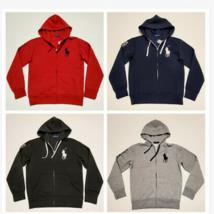 Men Polo Ralph Lauren Fleece Hoodie BIG PONY Soft Cotton Jacket Sweats S M L New - $78.99