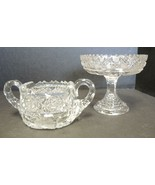 ABP American Brilliant Period Cut Glass Jelly Compote & Sugar Bowl - $28.49
