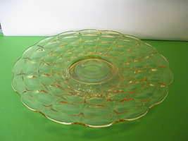 "Indiana Glass Tiara Exclusives Yellow Mist Constellation 13 1/2"" Serving... - $54.99"