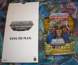 King He-Man MOTUC Masters of the Universe Classics MOSC MOC He-Man Skele... - $100.00