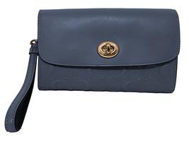 Coach Womens Midnight Blue Embossed Leather Crossbody Bag Purse F24469 8... - $166.61