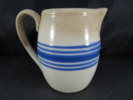 "Vintage Ceramic Crackled Pitcher American Hand made Pottery 5"" - $25.00"