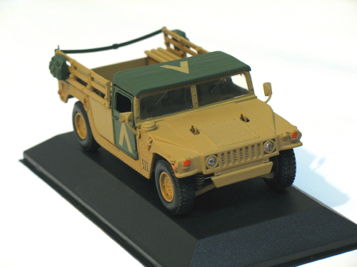 Hummer pick up U.S. Army Desert Storm 1/43 die cast model car (Rare)
