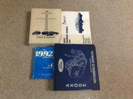 1992 Ford Taurus & Mercury Sable Service Shop Repair Manual Set Oem W Trans Bk - $39.55