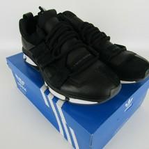 Adidas Twinstrike Adv Elástico Cuero Casual Zapatos Negros Blanco B28015 Size 13 image 2