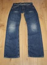 Superb Blue Denim LEE Button Stonewashed Straight Leg Jeans W 30 L 33 Gr... - $17.99
