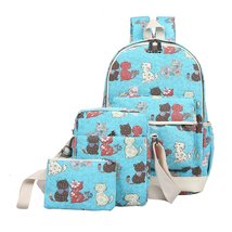 Casual Lightweight Canvas Backpack Kids Book Bag School Backpack for Girls - $28.99