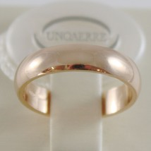 SOLID 18K YELLOW GOLD WEDDING BAND FLAT RING 5 GRAMS BY UNOAERRE MADE IN ITALY