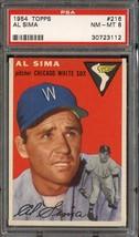 1954 Topps #216 Al Sima Psa 8 White Sox *DS6098 - $63.00