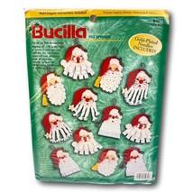 Bucilla Christmas Santa Ornaments Kit Set 12  Felt Applique Sealed  84072 - $21.73