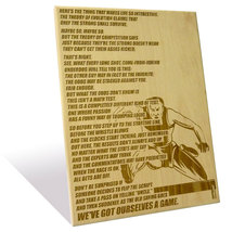 Nike's Theory of Competition quote etched on a Wooden Plaque (9 x 12 inch) - $55.00