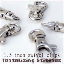 5 Nickel Plated 1.5 Inch Lobster Swivel Clasps - $3.21