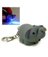 LED ELEPHANT KEYCHAIN with Light Sound Cute Circus Animal Noise Key Chai... - $6.95