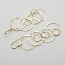 Drop Earrings 925 Silver Gold Foil & Circles by Maria Ielpo Made in Italy image 5