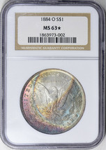 1884-O Morgan Silver Dollar - NGC MS-63 Star - Mint State 63 Star  - $198.00