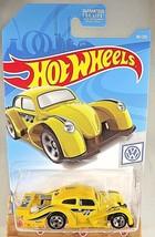 2019 Hot Wheels #46 Volkswagen 1/10 VOLKSWAGEN KAFER RACER Yellow Moon E... - $5.89