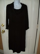LIZ LANGE MATERNITY BLACK COWL NECK LINE LONG DRESS SIZE M WOMEN'S NEW HTF - $29.88