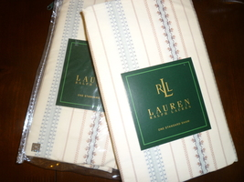 Ralph Lauren Villandry Stripe Pillow Sham Pair - New in Package - $65.00