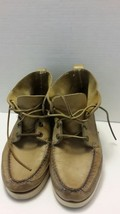 Sperry Top Sider Chukka Boat Shoe sz 11 Tan Leather Lace Up Well-Loved - $28.05