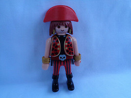 Vintage 1993 Playmobil Replacement Pirate Figure with Red Hat - $2.48