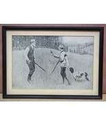 Custom Made Hunter and Farmer Print 12 1/2in x 8in  Vintage Paper - $33.38