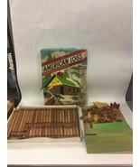 Vintage Halsam American Logs In Wood Box Over 100 Pcs Building set Mid C... - $133.64