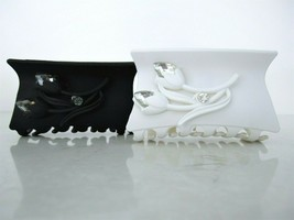 Black or white acrylic hair claw clip with flowers and crystals - $10.95