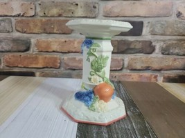 Avon Sweet Country Harvest Porcelain Fruit Flowers Pillar Candle Holder ... - $19.79