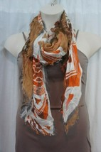 18 Collection Eighteen Scarf Sz OS One Size Harvest Pumpkin Orange Multi... - $19.71