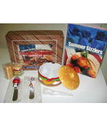 Barbeque BBQ Picnic Kit w/ Cookbook Condiment Set Shakers - $15.00
