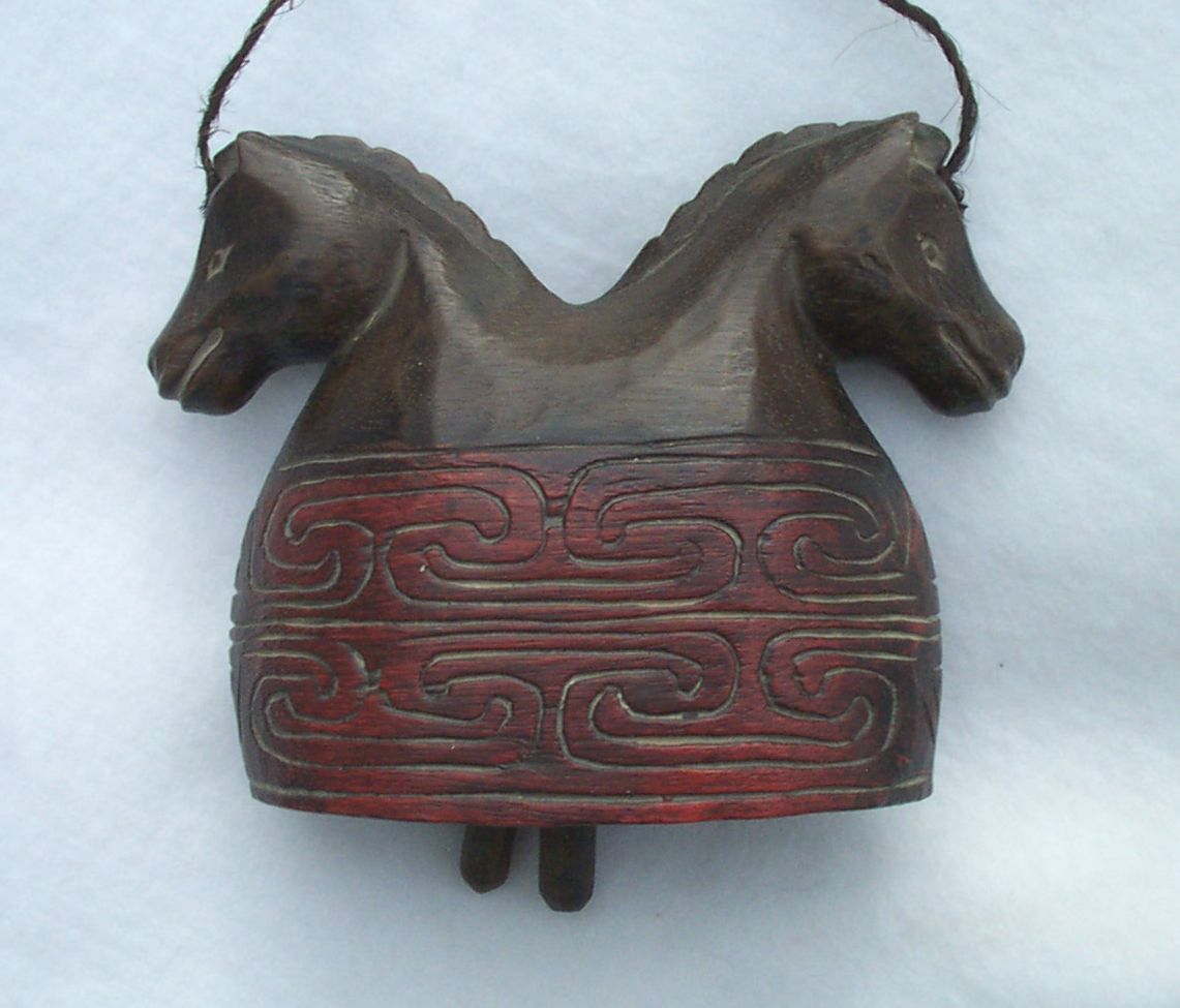 Primary image for Horse Wooden Two Headed Horse Bell
