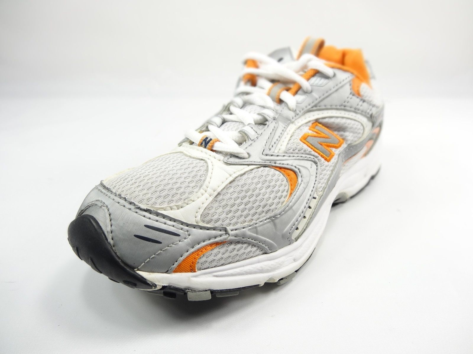 f54f3ab6807bc S l1600. S l1600. Previous. New Balance 411 White/Gray/Orange Running Womens  Shoes Size 8.5B